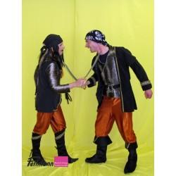 Pirat mit Stiefeln rostrot