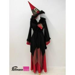 Hexe schwarz-rot