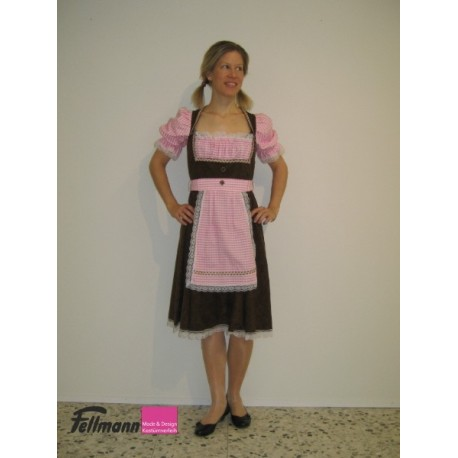 Dirndl braun-rosa, Mariandl