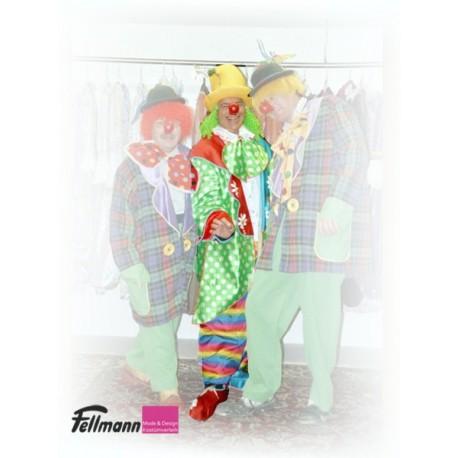 Clown Mantel grün-weiss getupft