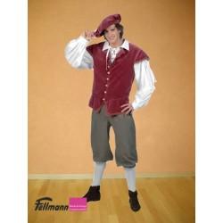 Mittelalter Herr bordeaux-oliv