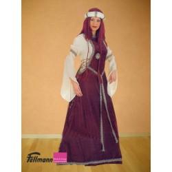 Mittelalterkleid lang mit Bordüre