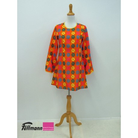 Blumenkleid orange