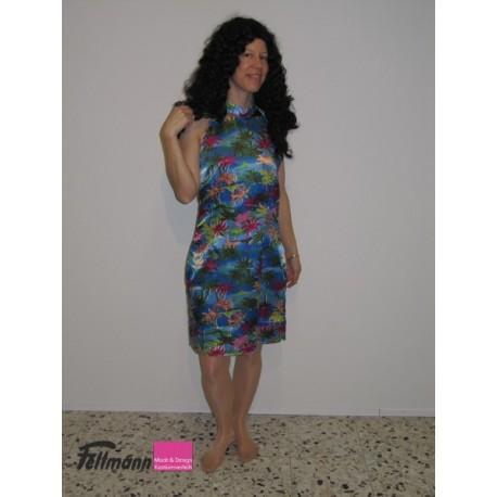 Hawaii Kleid blau