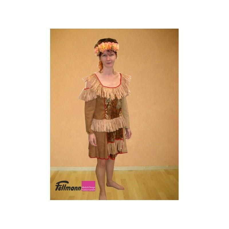 Hawaii Kleid braun - Fellmann Mode & Design, Kostümverleih