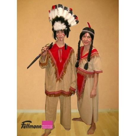 Indianer braun mit rot