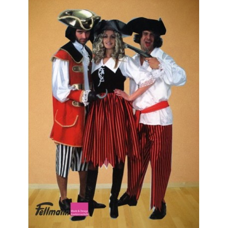 Piratin Kleid mit Kragen