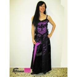 Trägerkleid violett mit Kreuz