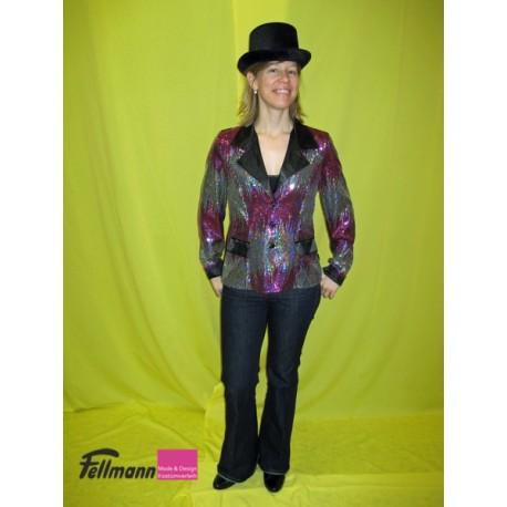 Blazer mit silber und pinken Pailletten