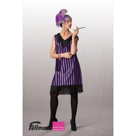 Charleston violett-schwarz gestreift