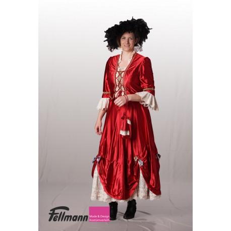 Rokoko Dame rot Nr. 8