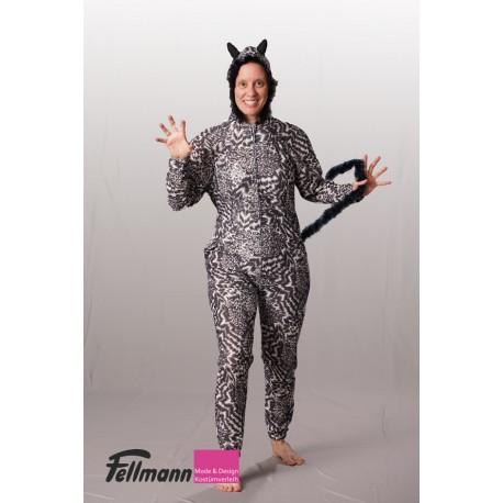 Broadway-Katze schwarz-weiss meliert
