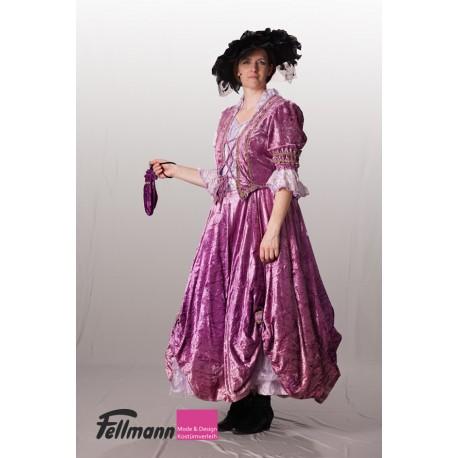Rokoko Dame violett Nr. 34