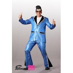 Disco-Anzug blau