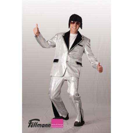 Disco-Anzug silber