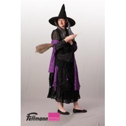 Hexe violett mit Spitze und Spinnennetz