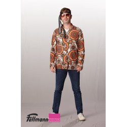 70er Jahre Hemd bunt orange