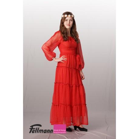70er Jahre Kleid rot