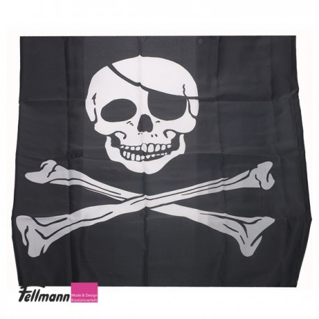 Piratenfahne mit Stock