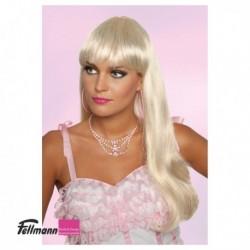 Perücke lang blond