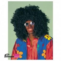 Perücke Afro schwarz
