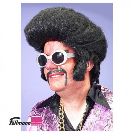 Perücke Elvis schwarz