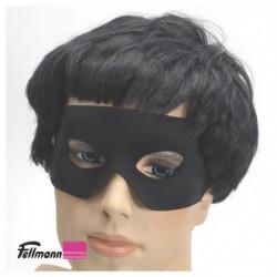 Halbmaske schwarz mit Band