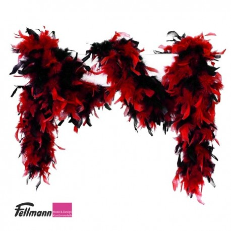 Federboa rot-schwarz