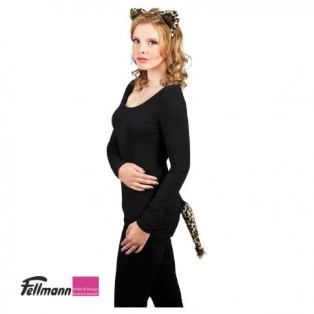 Haarreif Leopard mit Schwanz