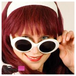 Brille weiss 50er Jahre