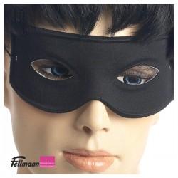 Halbmaske schwarz mit Gummifaden