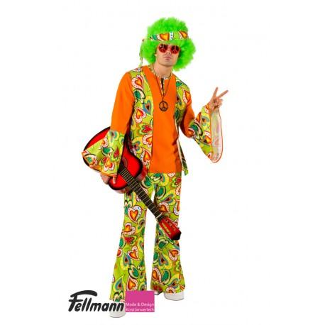 Hippie Herr orange bunt