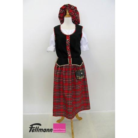 Schottin langes Kleid