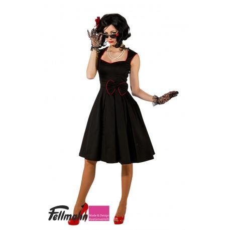 50er Jahre Kleid uni schwarz