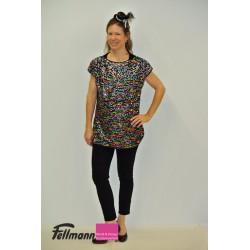 Multicolor-Shirt mit Pailletten